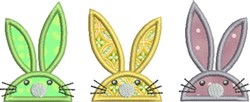 Bunny Trio embroidery design