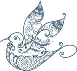 Exotic Bird embroidery design