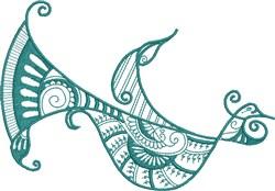 Mystic Bird embroidery design