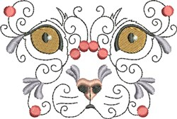 Small Exotic Kitty embroidery design
