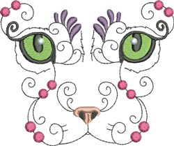 Mystic Kitty embroidery design