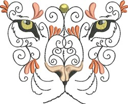 Exotic Tiger embroidery design