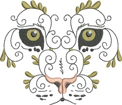 Exotic Wild Cat embroidery design