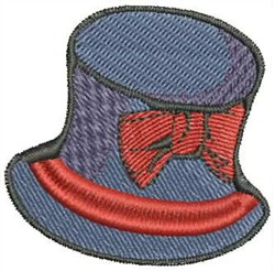 Blue Hat with Bow embroidery design