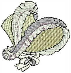 Victorian Bonnet embroidery design