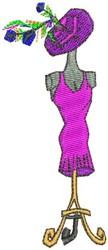 Dressmakers Form embroidery design