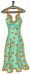 Polka Dot Summer Dress embroidery design