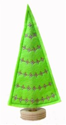 Felt Elegant Christmas Tree embroidery design