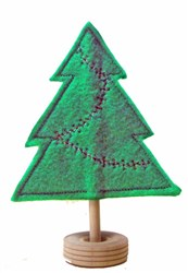 Felt Garland Christmas Tree embroidery design
