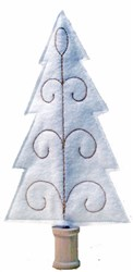 Felt Tradition Christmas Tree embroidery design