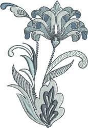 Kings Fleur De Lis Floral embroidery design