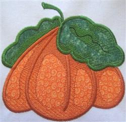 Fall Pumpkin Applique embroidery design