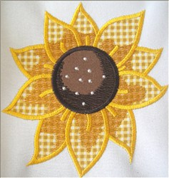 Fall Sunflower Applique embroidery design