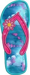 Left Flip Flop Applique embroidery design