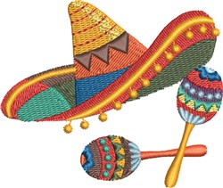 Fiesta Sombrero embroidery design