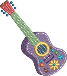 Fiesta Guitar embroidery design