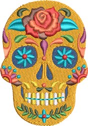 Fiesta Sugar Skull embroidery design