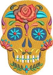 Fiesta Sugar Skull embroidery design