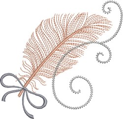 Le Plume embroidery design