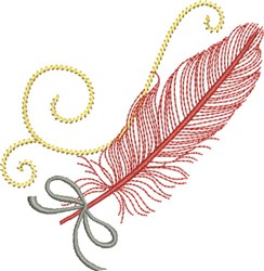 Drifiting Feather embroidery design