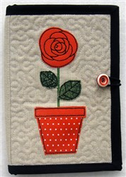 Folded E-reader Cover 2 embroidery design