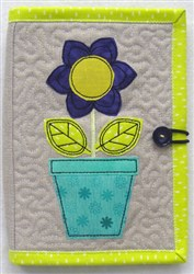 Folded E-reader Cover 4 embroidery design