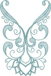 Scrolled Neckline embroidery design