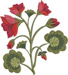 Geraniums embroidery design