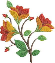 Bright Floral embroidery design