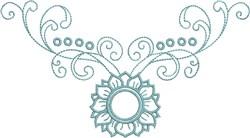 Delicate Neckline embroidery design