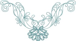 Graceful Neckline embroidery design