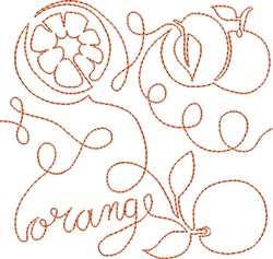 Free Motion Orange embroidery design