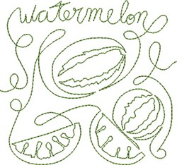 Free Motion Watermelon embroidery design
