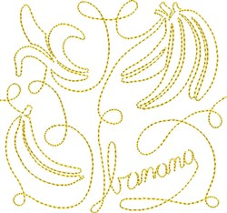 Free Motion Banana embroidery design