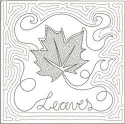 ITH Fall Quilt Block 4 embroidery design