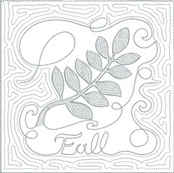 ITH Fall Quilt Block 8 embroidery design