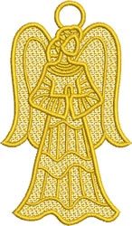 Praying Lace Angel embroidery design