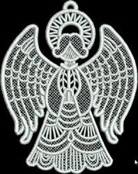 FSL Small Angel Praying embroidery design