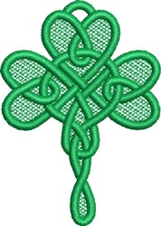 FSL Celtic Shamrock Ornament embroidery design