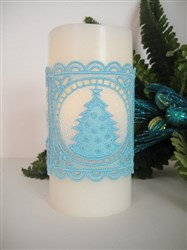 FSL Christmas Candle Cover embroidery design