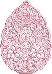FSL Floral Egg embroidery design