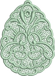 FSL Egg Ornament embroidery design