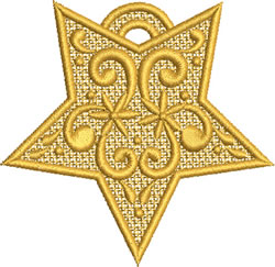 Lace Christmas Star embroidery design