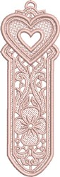 FSL Heart Bookmark 2 embroidery design