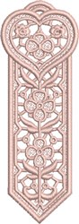 FSL Heart Bookmark 3 embroidery design