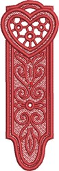 FSL Heart Bookmark 4 embroidery design