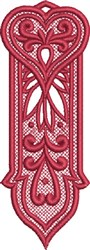 FSL Heart Bookmark 10 embroidery design