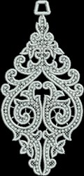 FSL Spire Ornament embroidery design