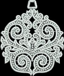 FSL Sphere Ornament embroidery design