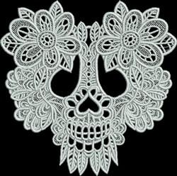 FSL Sugar Skull embroidery design